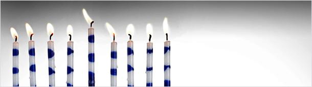 Hanukkah centers around the lighting of the Chanukiah.